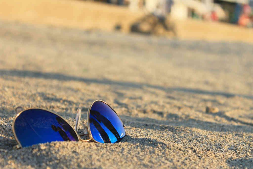 Blå solbriller til kvinder