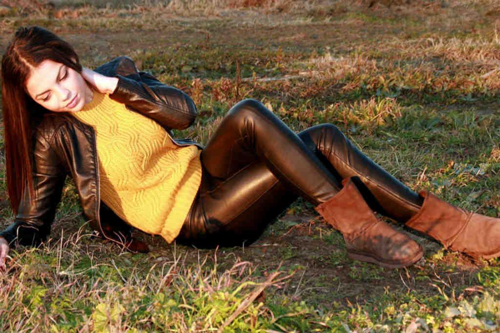 Populære dame læderbukser der hitter